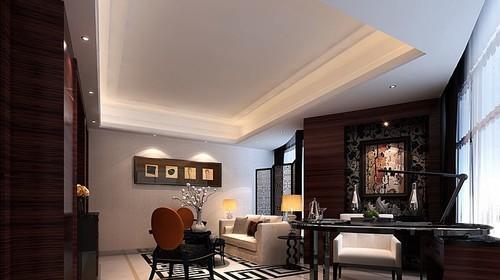 豪华现代中式别墅