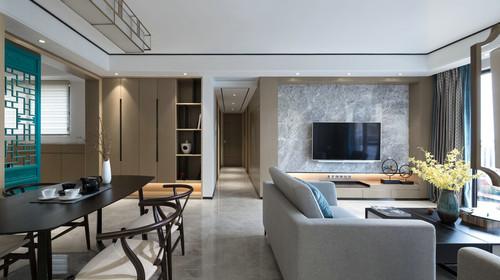 和谐家园现代中式客厅效果科