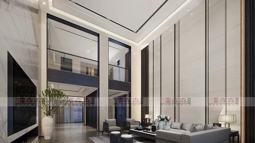 东奥苑别墅900平现代中式设计案例